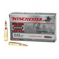 .243WIN Winchester 100gr power-point