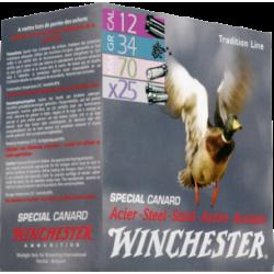 Hagelpatronen Winchester kaliber 12 4/34 gram special canard
