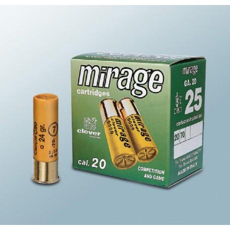 Hagelpatronen Clever Mirage kaliber 20 4/24 gram T3