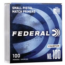 Federal Primer Small Pistol Nr. 100