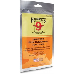 Hoppe's gun cleaning patches .22 - .270