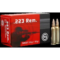 .223REM Geco 55gr FMJ target