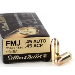 .45ACP S&B 230gr FMJ RN