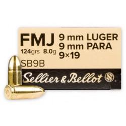 9mm para S&B 124gr FMJ
