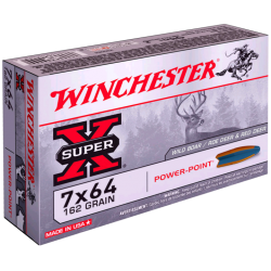 7x64 Winchester 162gr power-point