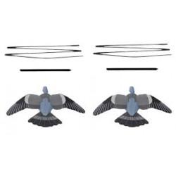 Enforcer lokvogel duif vliegend 2 st